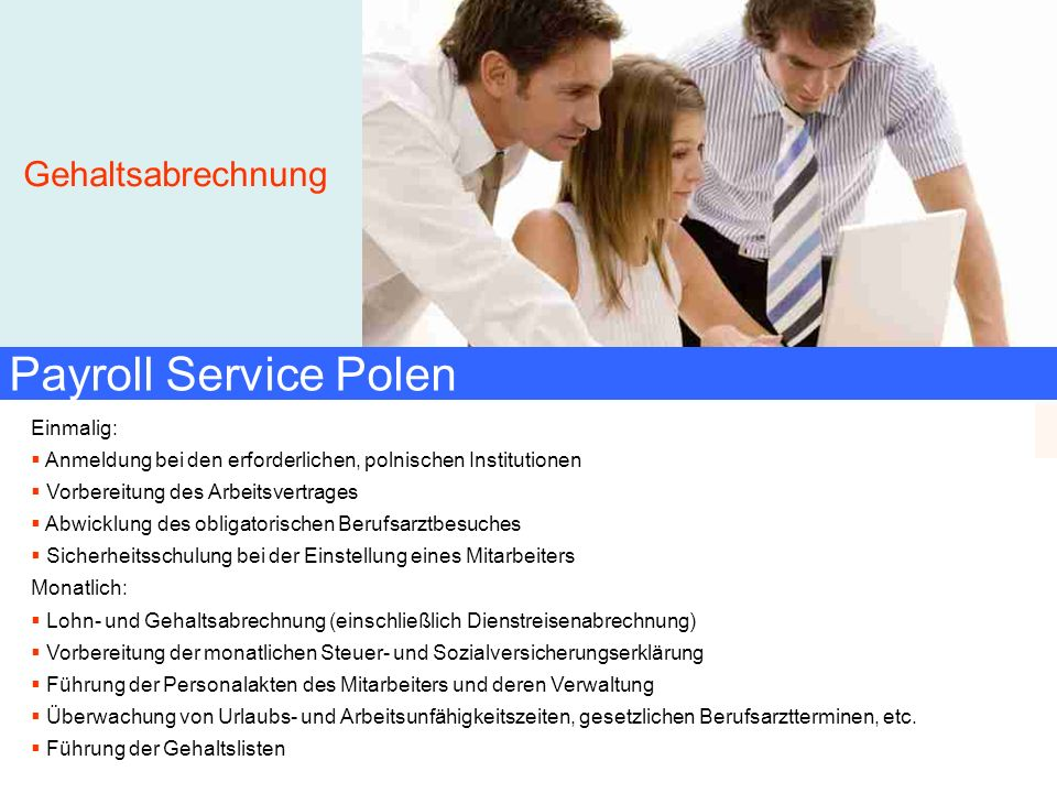 Payroll Service Polen Gehaltsabrechnung