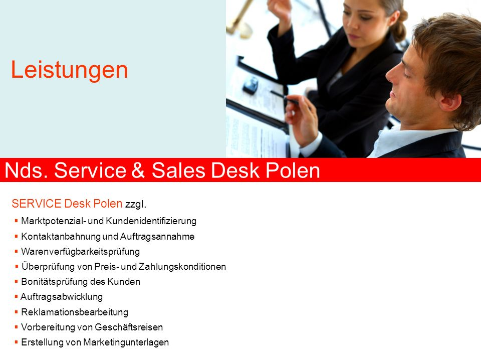 Nds. Service & Sales Desk Polen
