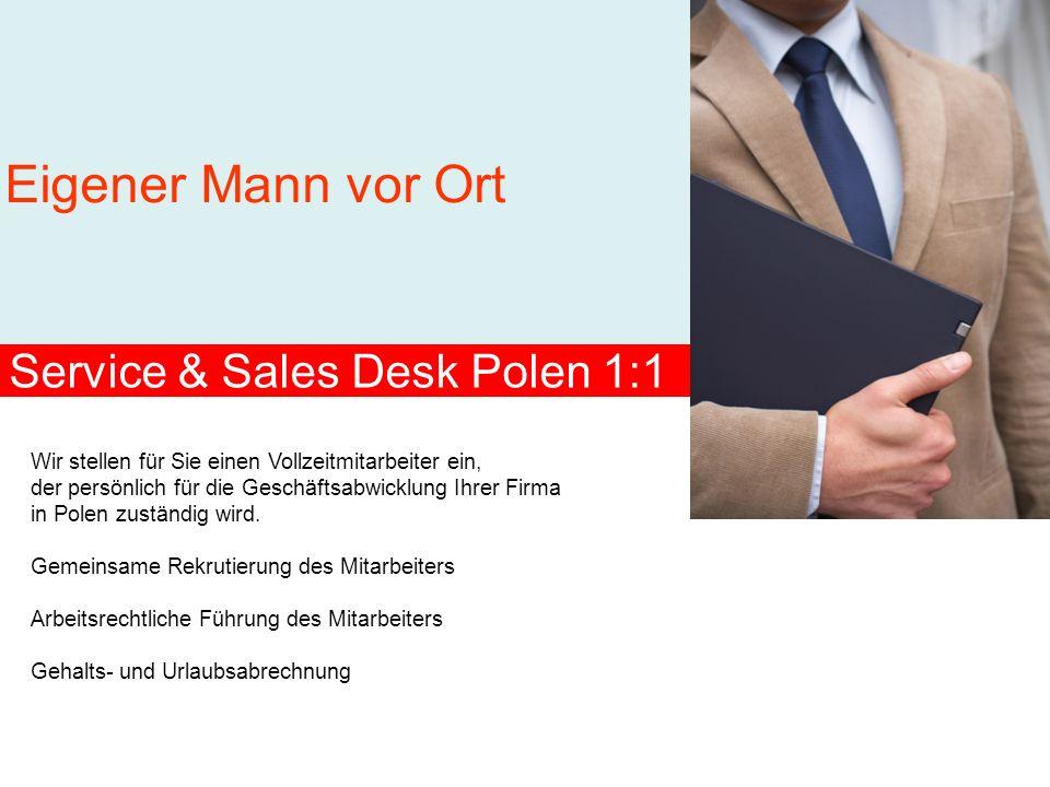 Service & Sales Desk Polen 1:1