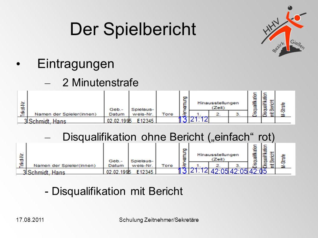 Schulung Zeitnehmer/Sekretäre