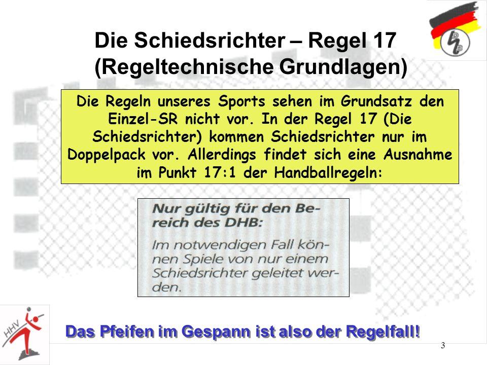 Die Schiedsrichter – Regel 17 (Regeltechnische Grundlagen)