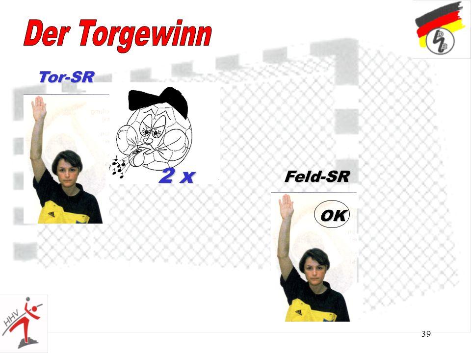Der Torgewinn Tor-SR 2 x Feld-SR OK