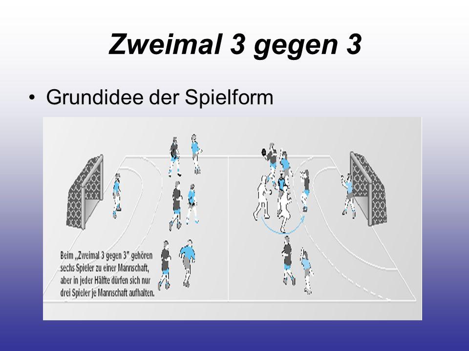 Zweimal 3 gegen 3 Grundidee der Spielform