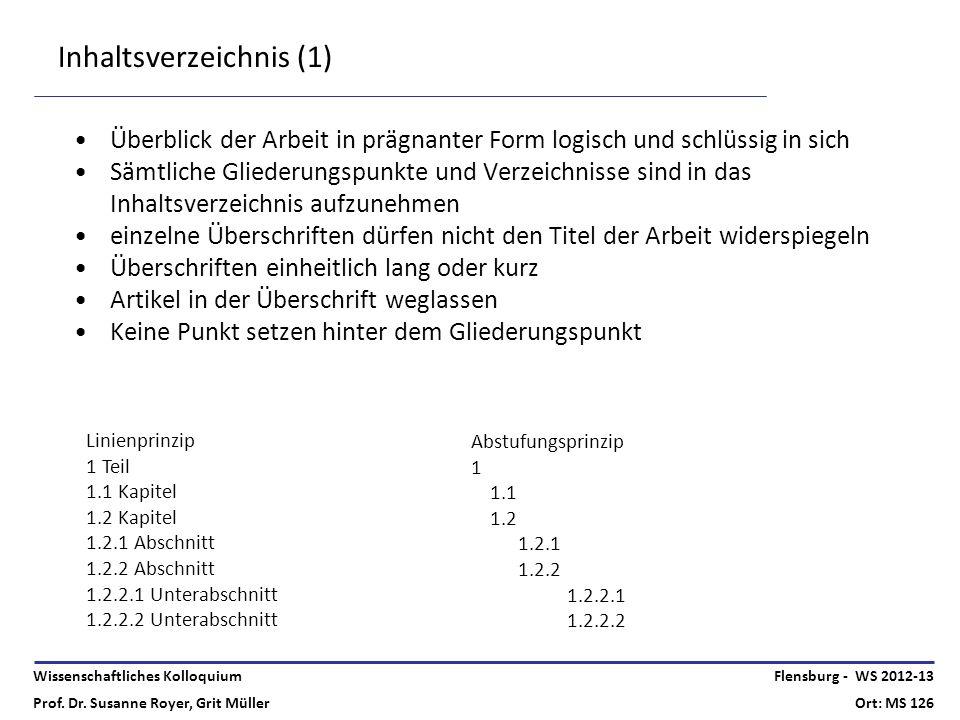 Inhaltsverzeichnis (1)