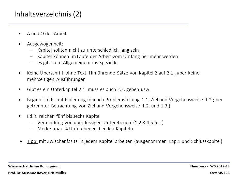 Inhaltsverzeichnis (2)