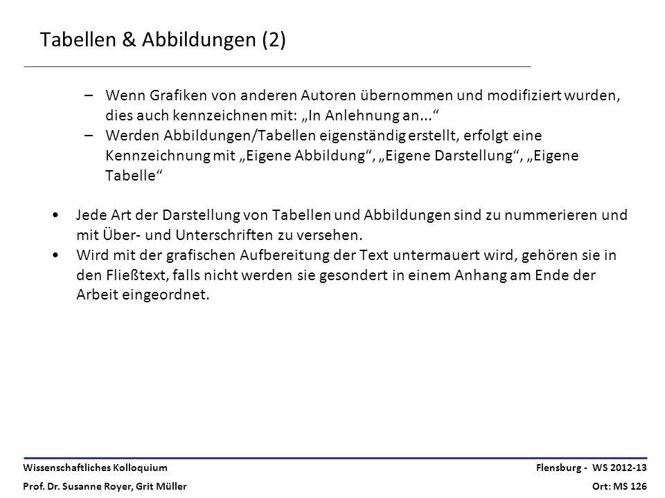 Tabellen & Abbildungen (2)