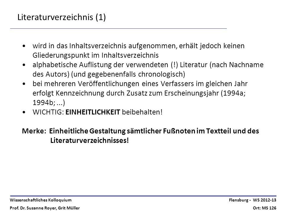 Literaturverzeichnis (1)