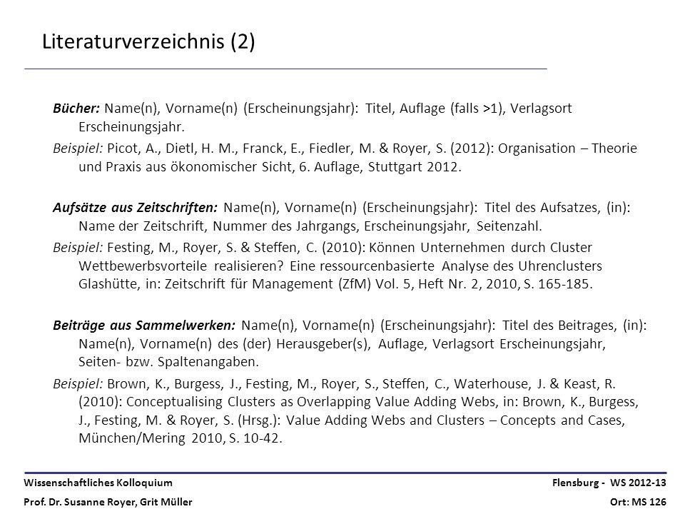 Literaturverzeichnis (2)