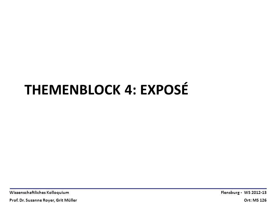 Themenblock 4: Exposé