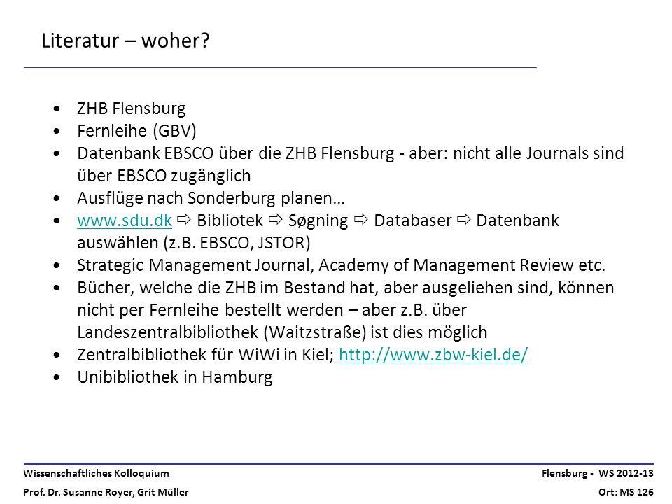 Literatur – woher ZHB Flensburg Fernleihe (GBV)
