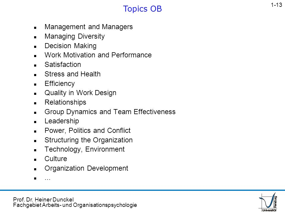 Topics OB Management and Managers Managing Diversity Decision Making