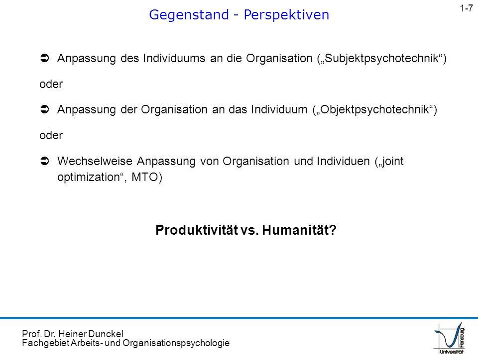 Produktivität vs. Humanität