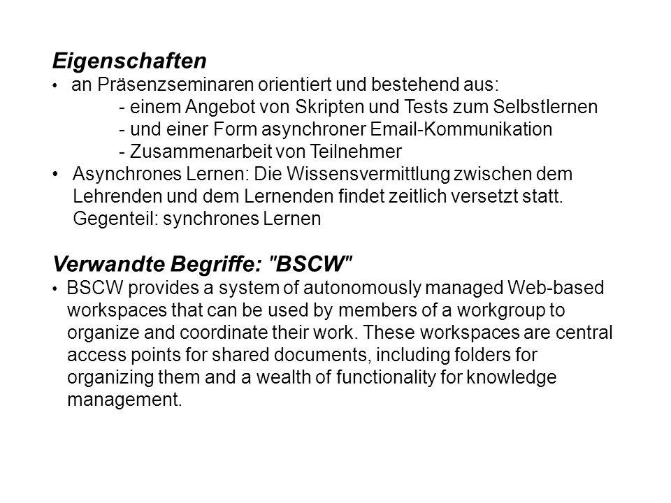Verwandte Begriffe: BSCW