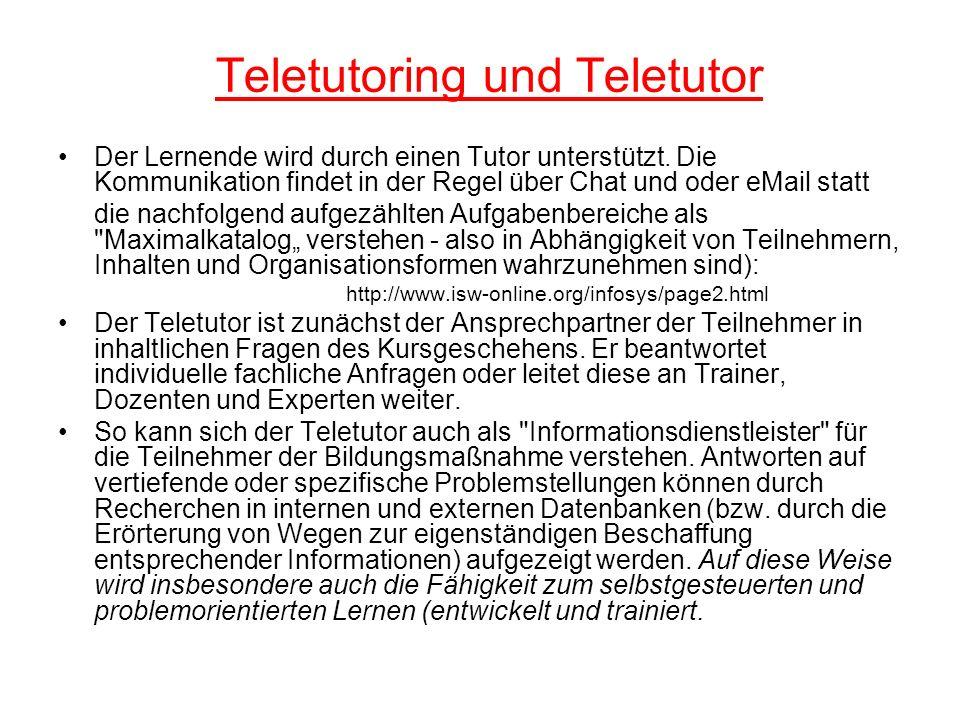 Teletutoring und Teletutor