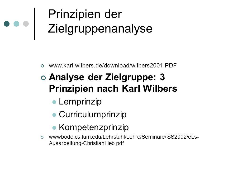 Prinzipien der Zielgruppenanalyse