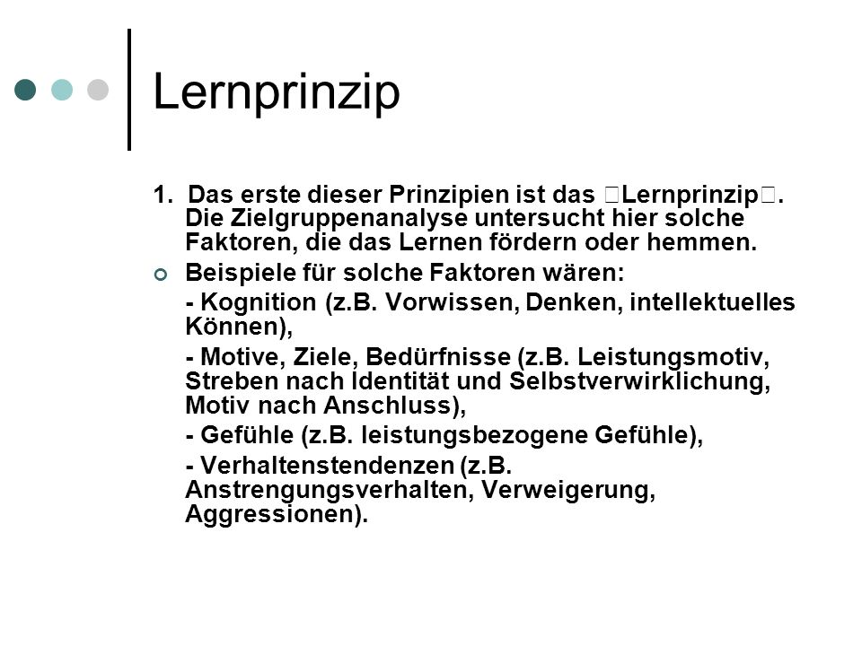 Lernprinzip
