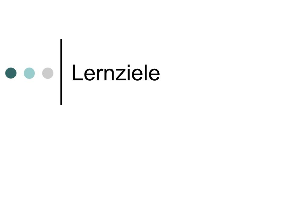 Lernziele