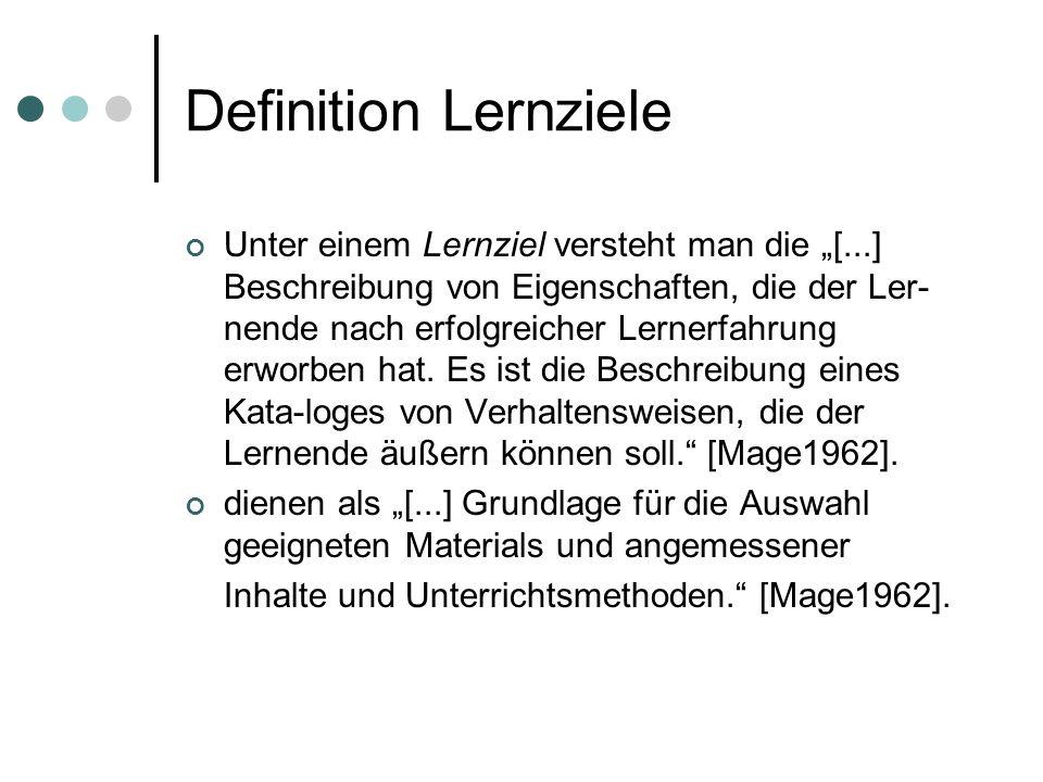 Definition Lernziele