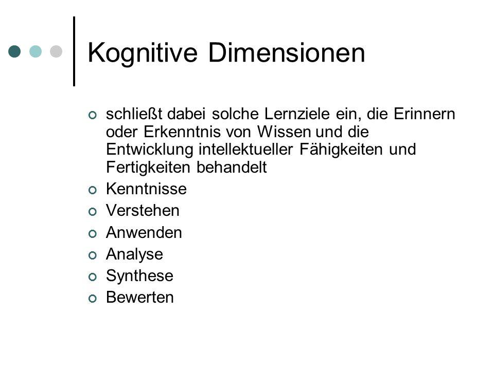 Kognitive Dimensionen