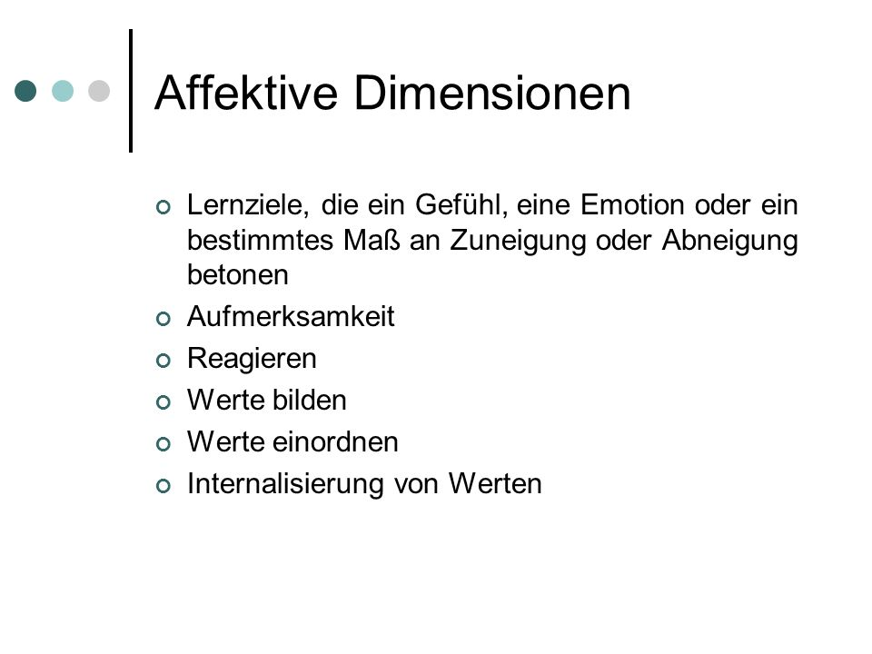 Affektive Dimensionen