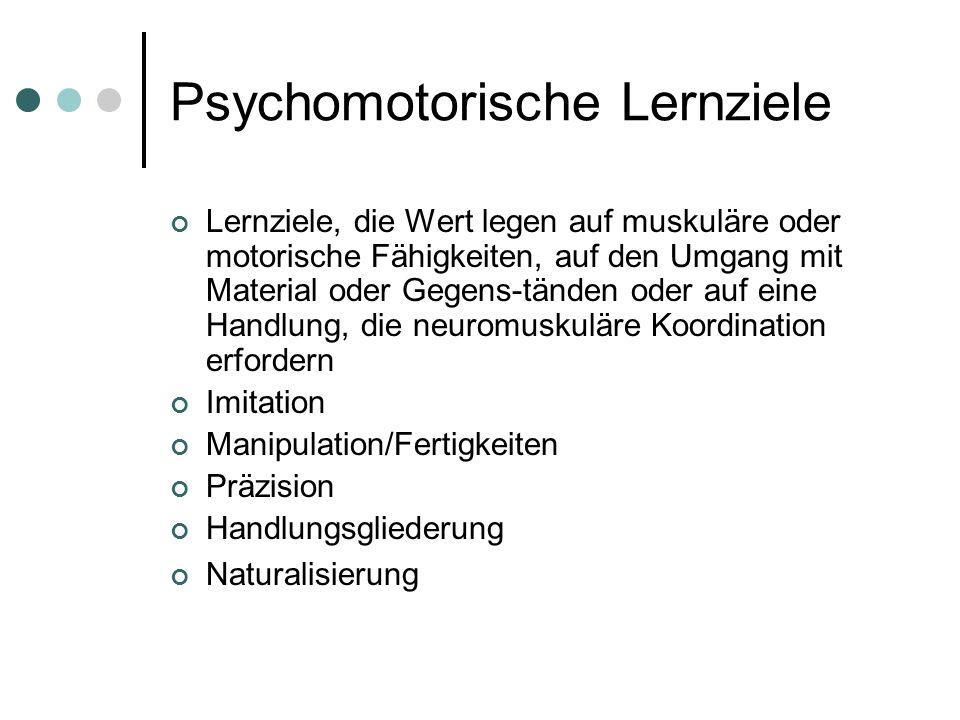 Psychomotorische Lernziele