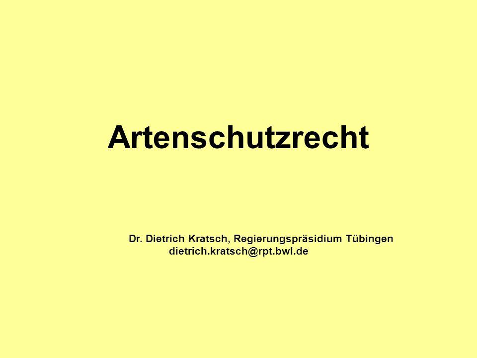 Dr. Dietrich Kratsch, Regierungspräsidium Tübingen