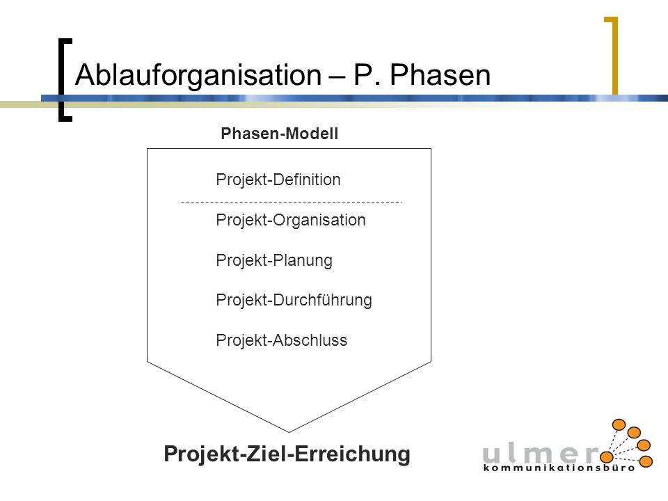 Ablauforganisation – P. Phasen