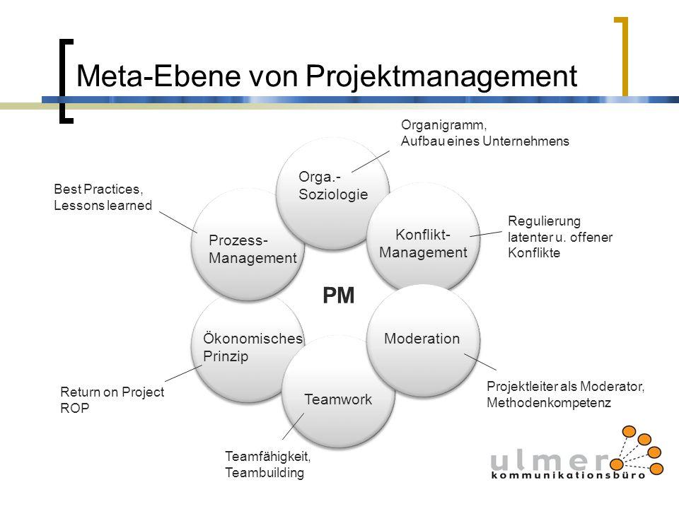 Meta-Ebene von Projektmanagement