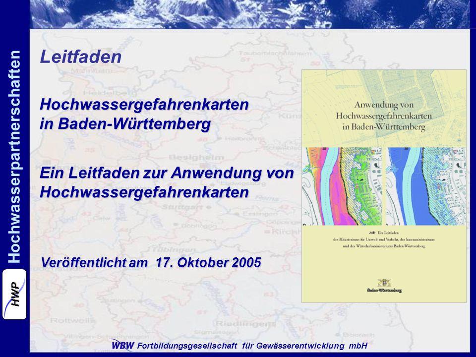 Leitfaden Hochwassergefahrenkarten in Baden-Württemberg