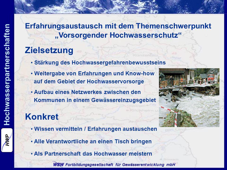 """Erfahrungsaustausch mit dem Themenschwerpunkt """"Vorsorgender Hochwasserschutz"""