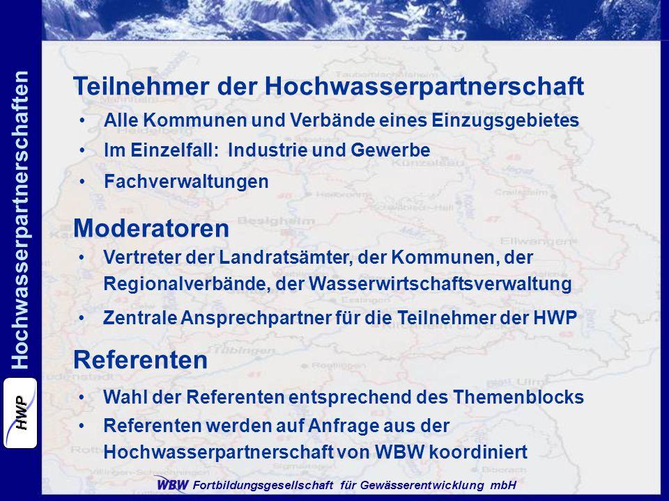 Teilnehmer der Hochwasserpartnerschaft