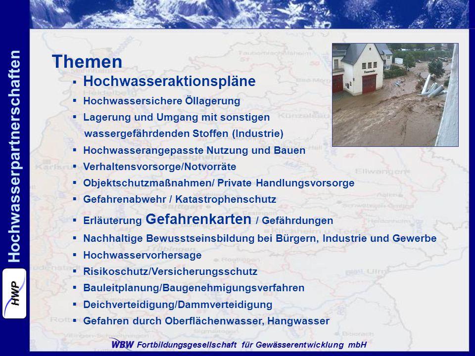 Themen Hochwasseraktionspläne Hochwassersichere Öllagerung