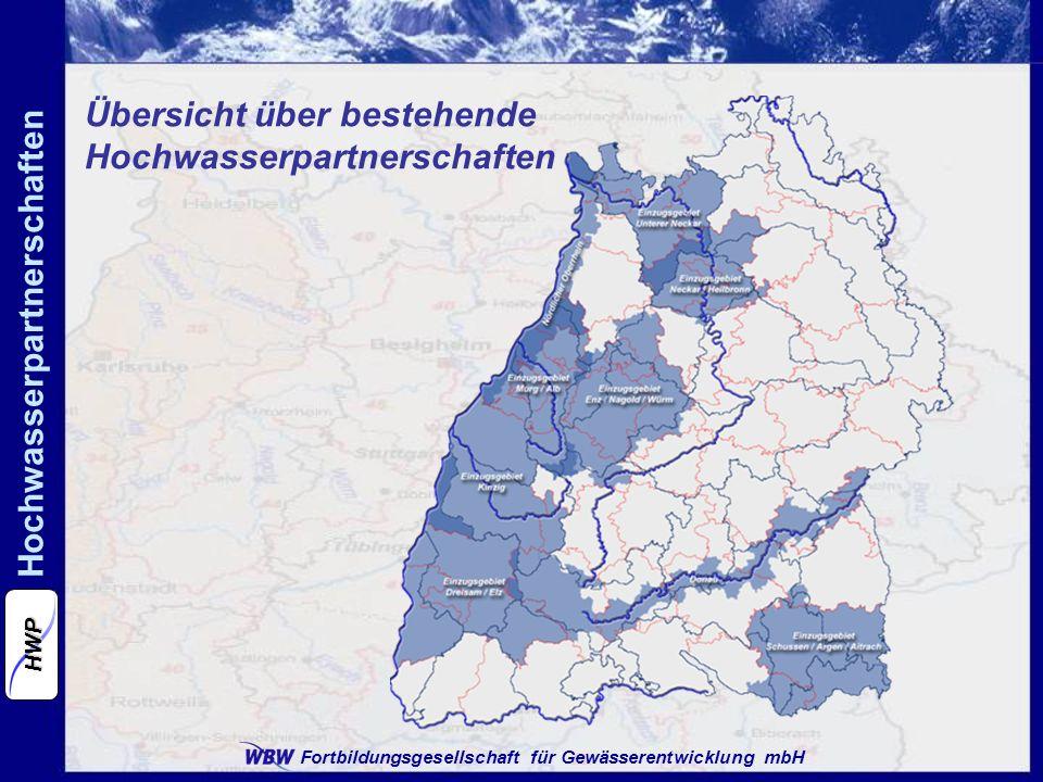 Übersicht über bestehende Hochwasserpartnerschaften