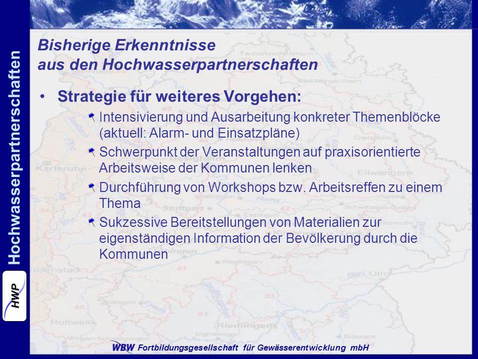 Bisherige Erkenntnisse aus den Hochwasserpartnerschaften