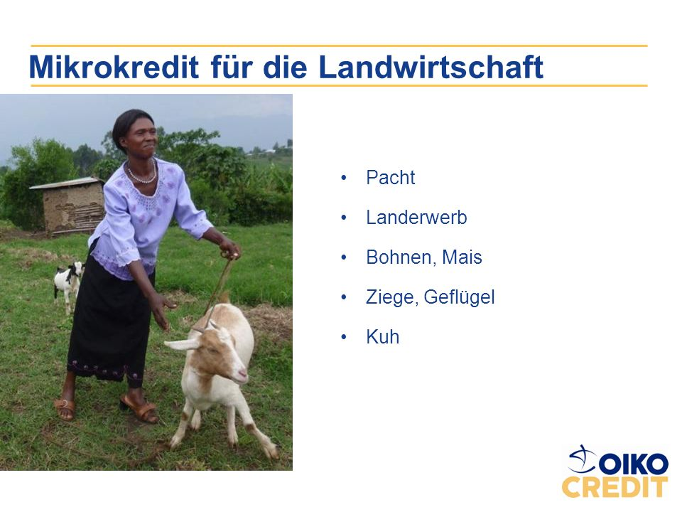 Mikrokredit für die Landwirtschaft