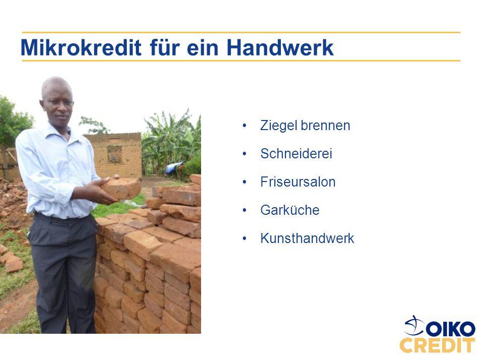 Mikrokredit für ein Handwerk