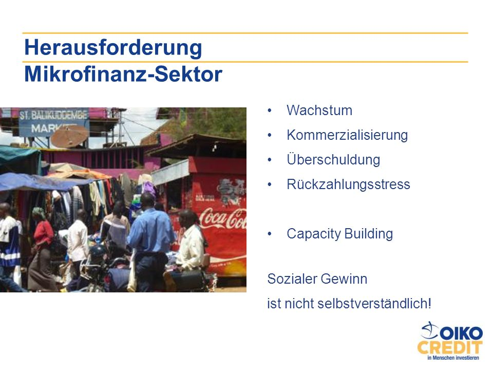 Herausforderung Mikrofinanz-Sektor