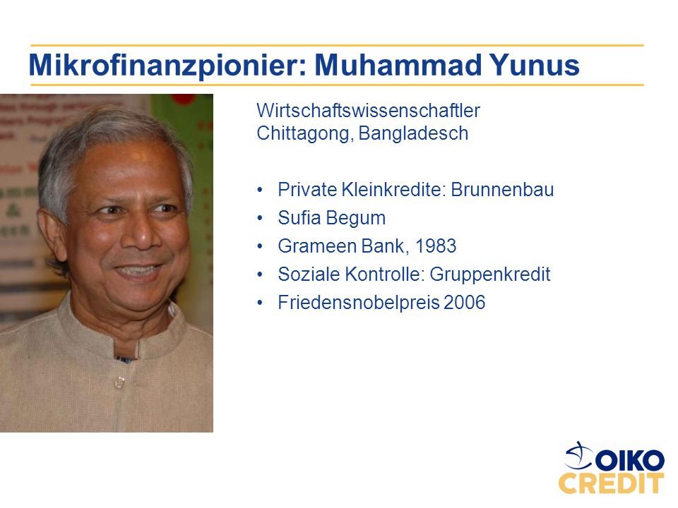 Mikrofinanzpionier: Muhammad Yunus