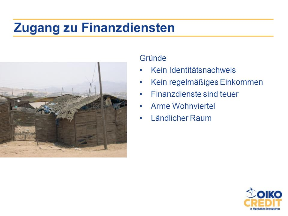 Zugang zu Finanzdiensten