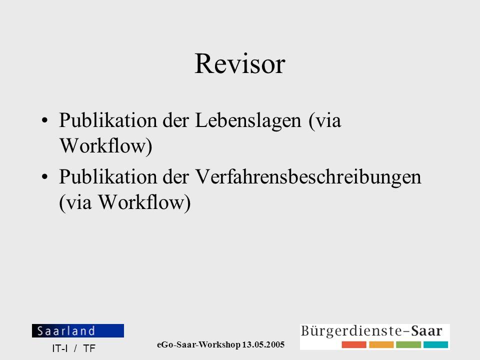 Revisor Publikation der Lebenslagen (via Workflow)