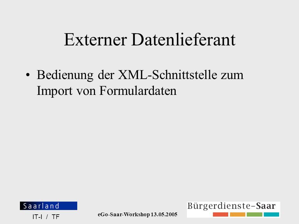 Externer Datenlieferant