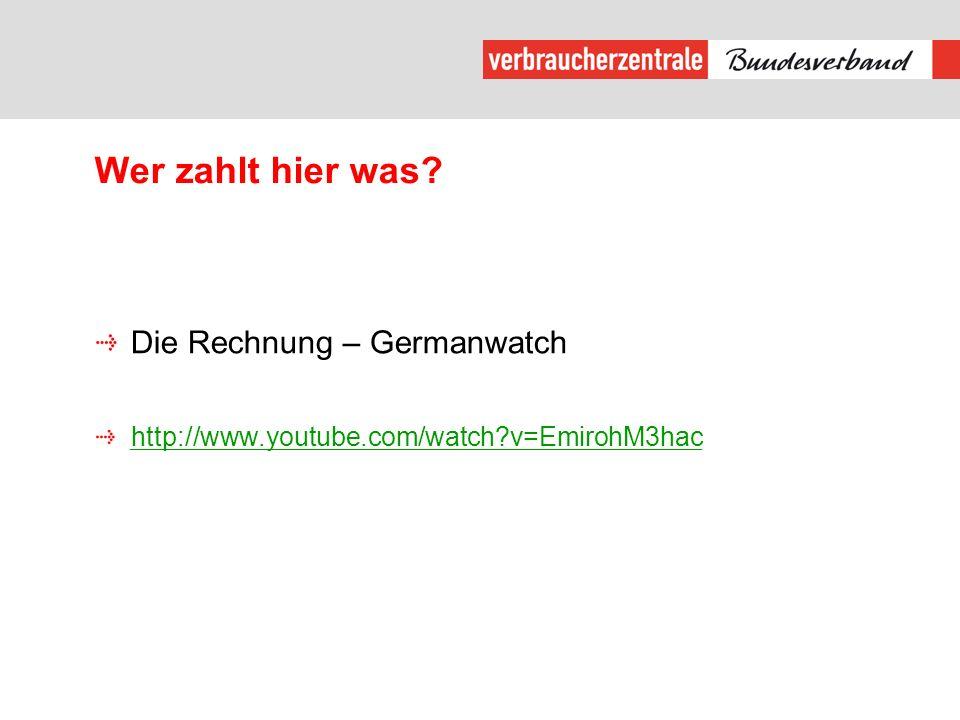 Wer zahlt hier was Die Rechnung – Germanwatch