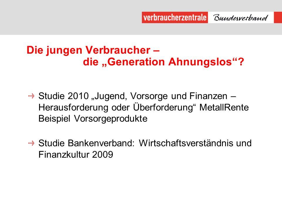 """Die jungen Verbraucher – die """"Generation Ahnungslos"""