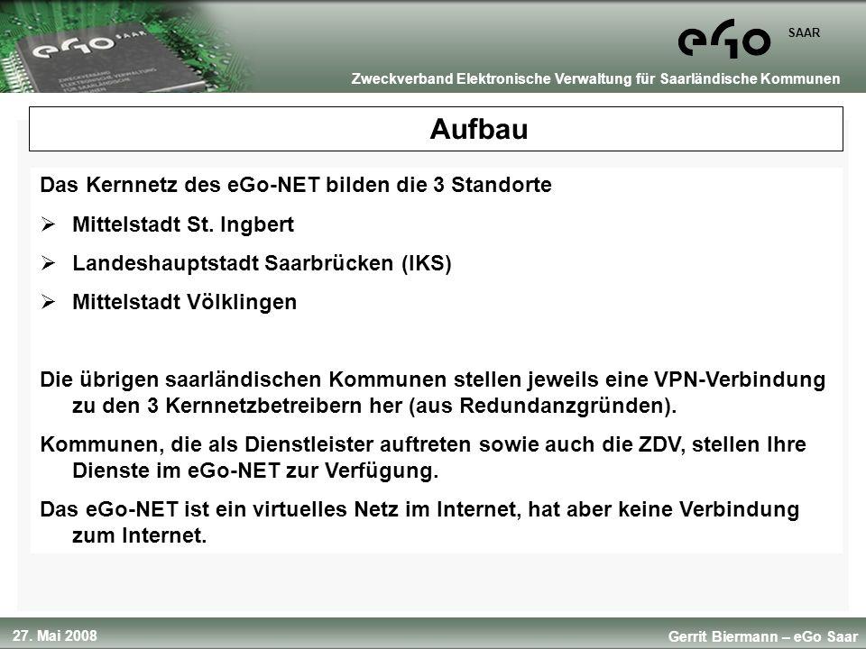 Aufbau Das Kernnetz des eGo-NET bilden die 3 Standorte