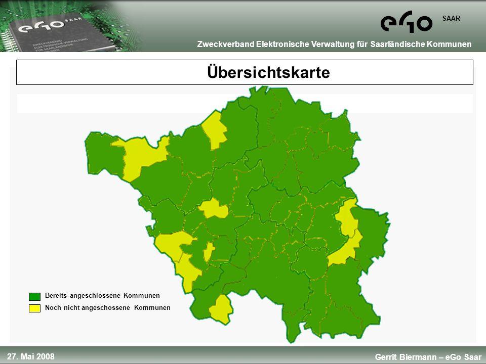 Übersichtskarte Bereits angeschlossene Kommunen