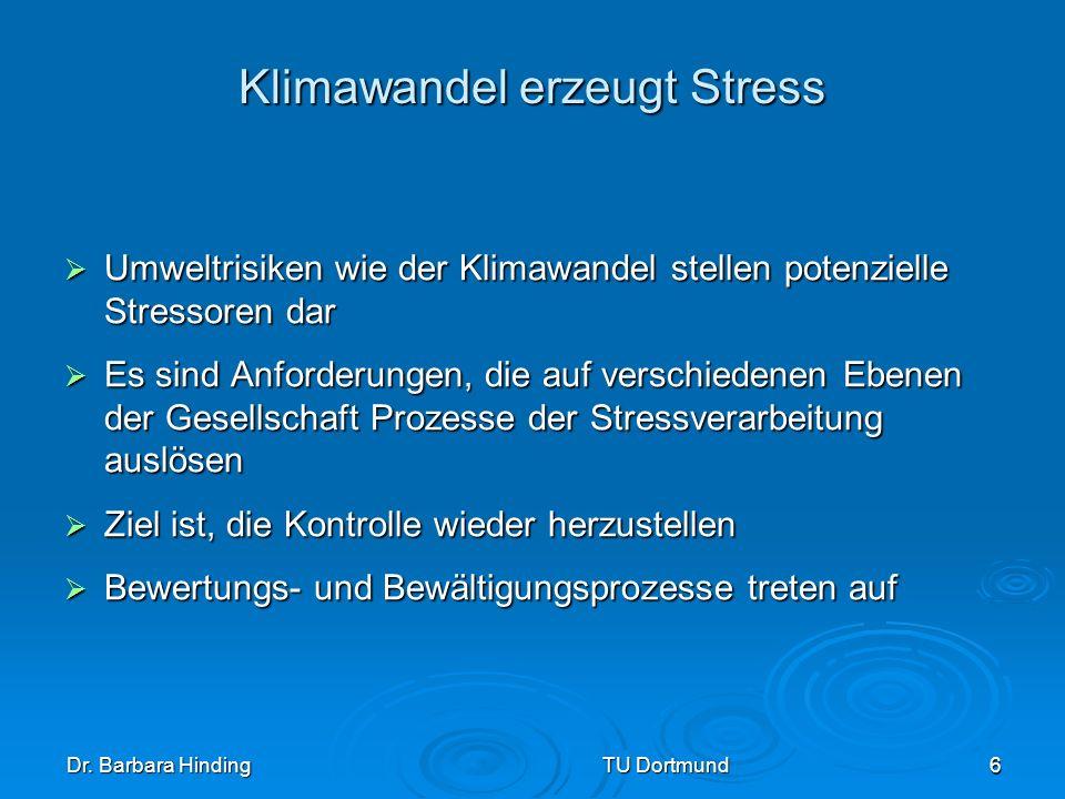 Klimawandel erzeugt Stress