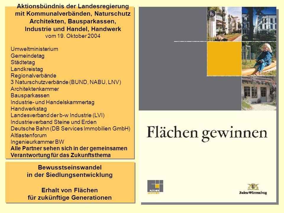 Aktionsbündnis der Landesregierung mit Kommunalverbänden, Naturschutz Architekten, Bausparkassen, Industrie und Handel, Handwerk vom 19. Oktober 2004