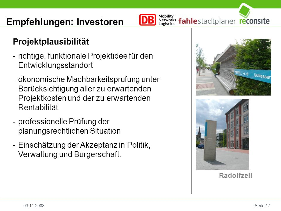 Empfehlungen: Investoren
