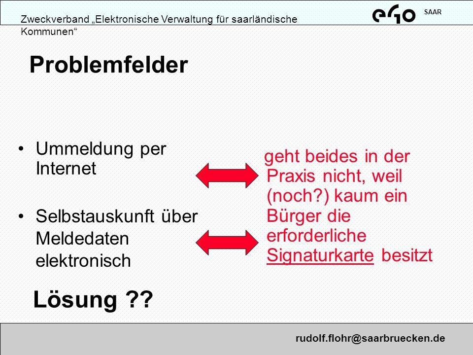 Problemfelder Lösung Ummeldung per Internet