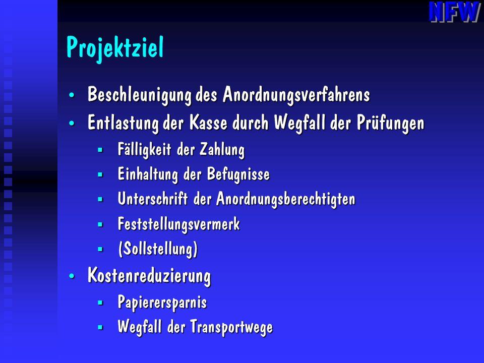 Projektziel Beschleunigung des Anordnungsverfahrens
